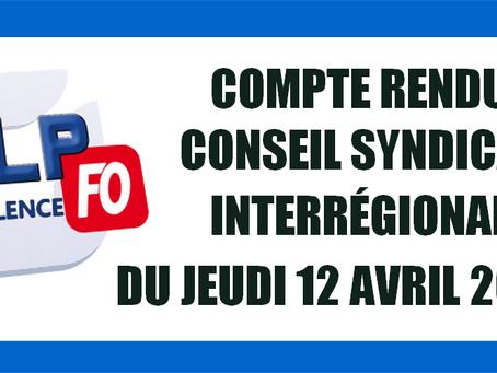 Prison de Valence : Compte Rendu Conseil syndical Interrégional (CSI)