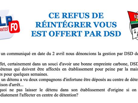 Prison de Nantes : Ce refus de réintégrer vous est offert par DSD