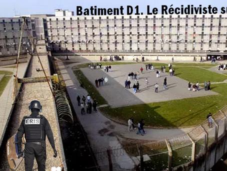 Prison de Fleury-Mérogis: Batiment D1 Le Récidiviste sur le toit