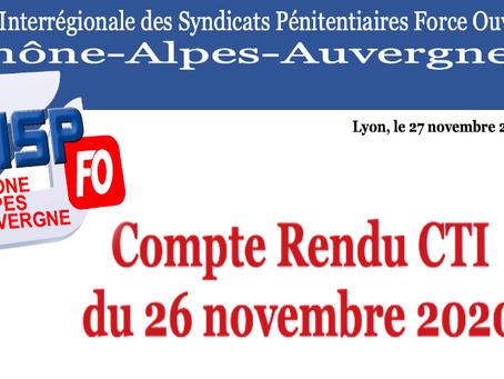 UISP-FO Rhone-Alpes-Auvergne : Compte Rendu CTI du 26 novembre 2020