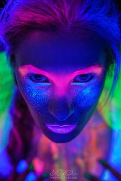 UV Halloween!__HMUA_ Jaime Long_UV paint fx and photography_ Mad Dame_Model + props Ashlelectric X