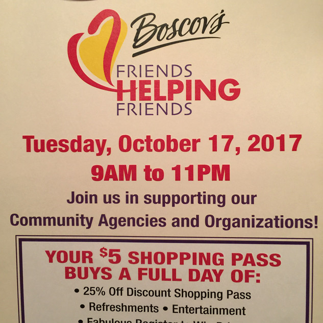 "Boscov's ""Friends Helping Friends"""