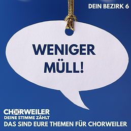 Weniger Müll!