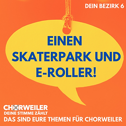 Einen Skaterpark und E-Roller!