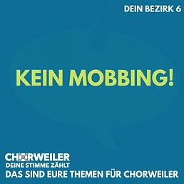 Kein Mobbing!