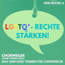 LGBTQ* Rechte stärken!
