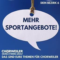 Mehr Sportangebote!