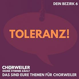 Toleranz!