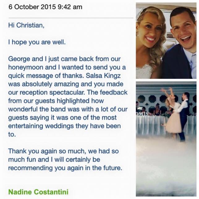 Nadine & George Wedding Testimonial