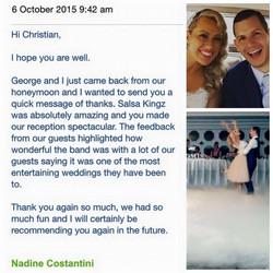 Nadine & George Wedding Testimonial