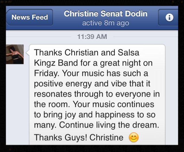 Salsa Kingz testimonial