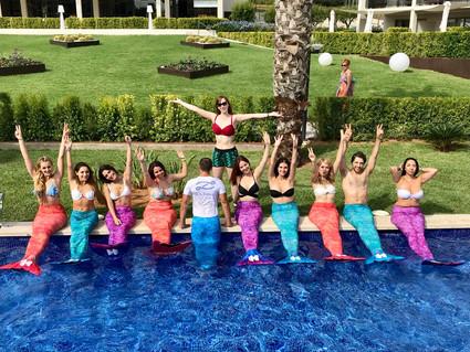 Hotels.com Mermaid Fitness Classes