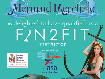 Mermaid Merchelle has qualified as a Fin2Fit Instructor!
