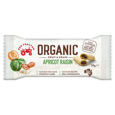 ORGANIC APRICOT RAISIN FRUIT & GRAIN BAR