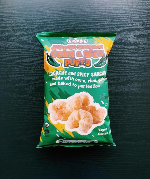 Jalapeno Seasoned Corn & Rice Puffs: 8.5/10