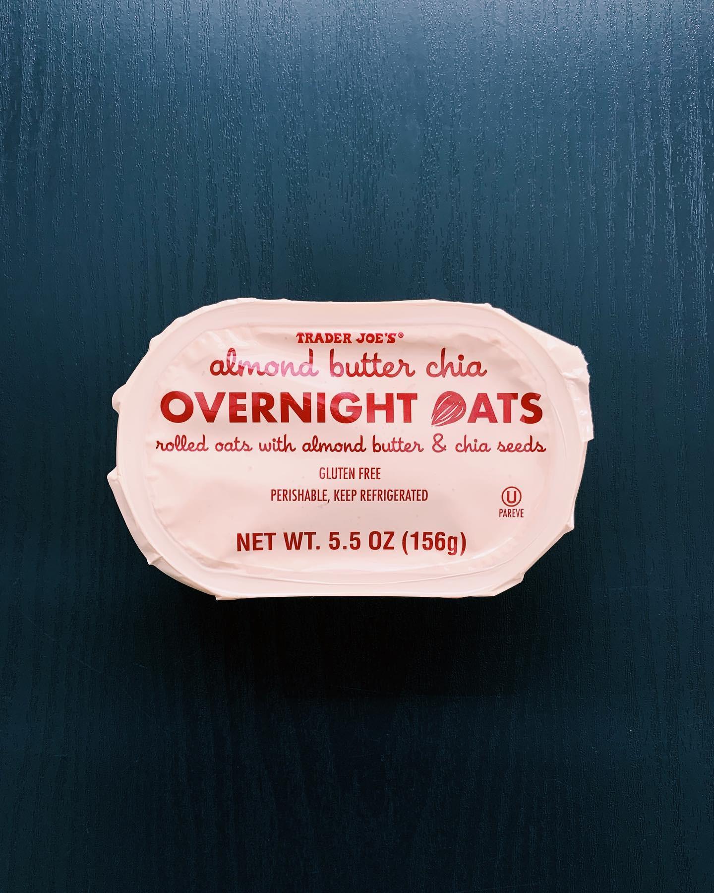 Almond Butter Chia Overnight Oats: 8/10