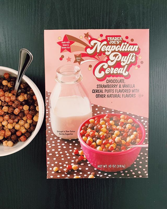 Neapolitan Puffs Cereal: 4/10