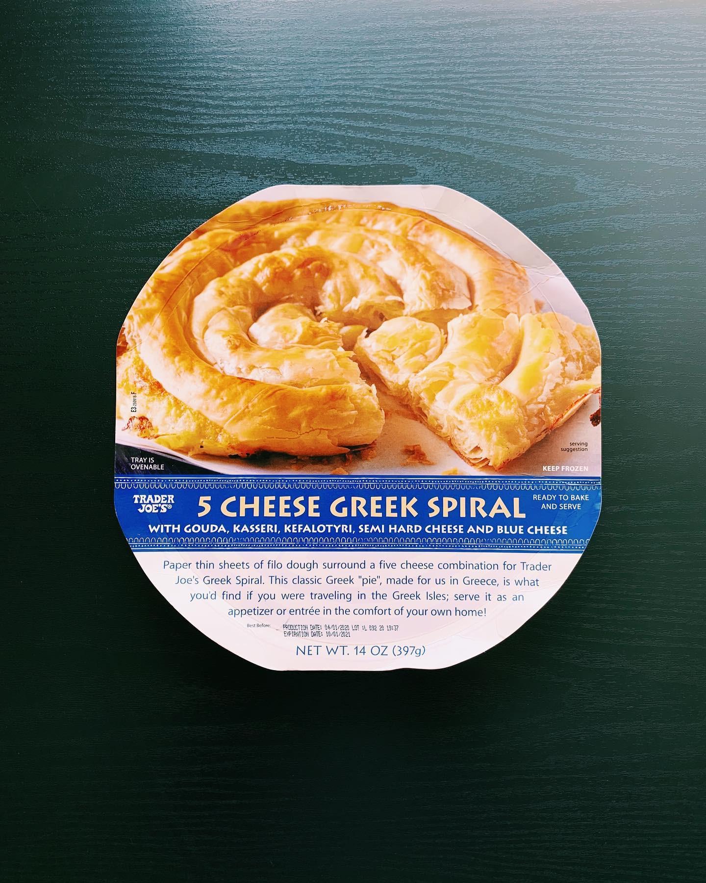 5 Cheese Greek Spiral: 8/10