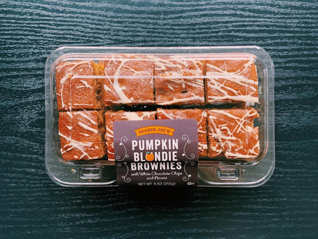Trader Joe's Pumpkin Blondie Brownies Review