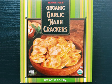 Trader Joe's Garlic Naan Crackers Review