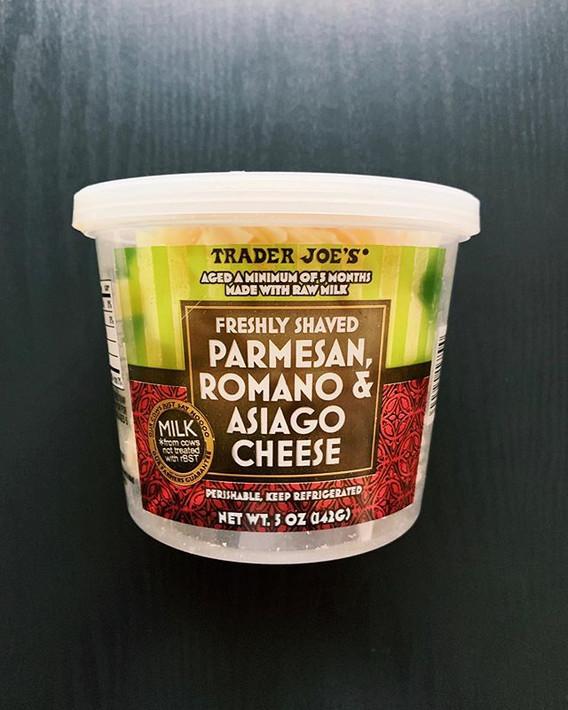 Parmesan, Romano, Asiago Cheese: 8.5/10