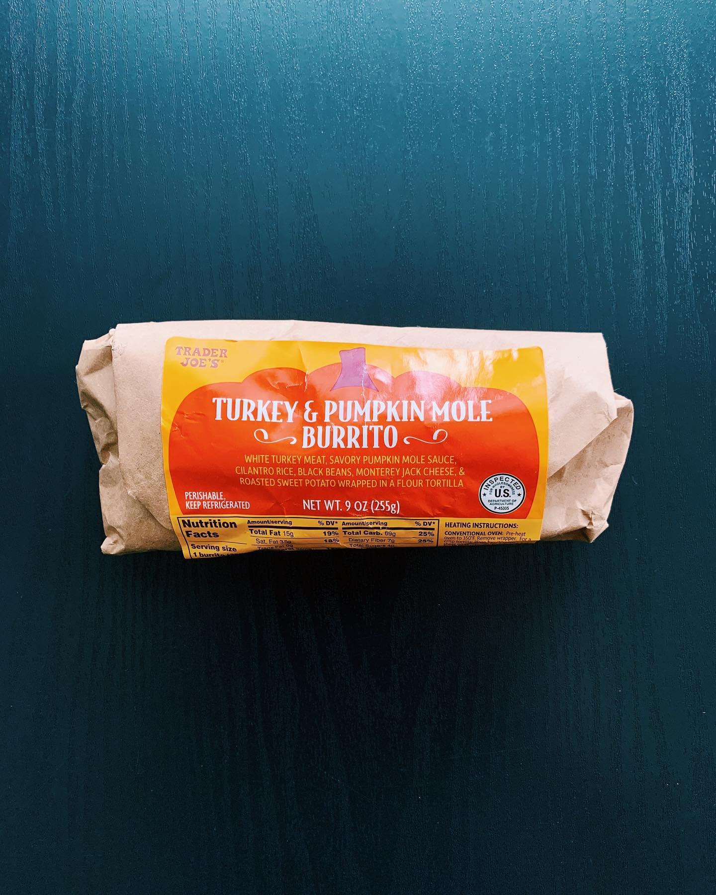 Turkey and Pumpkin Mole Burrito: 6/10