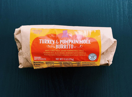 Trader Joe's Turkey & Pumpkin Mole Burrito Review