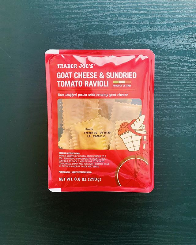 Trader Joe's Goat Cheese and Sun-Dried Tomato Ravioli