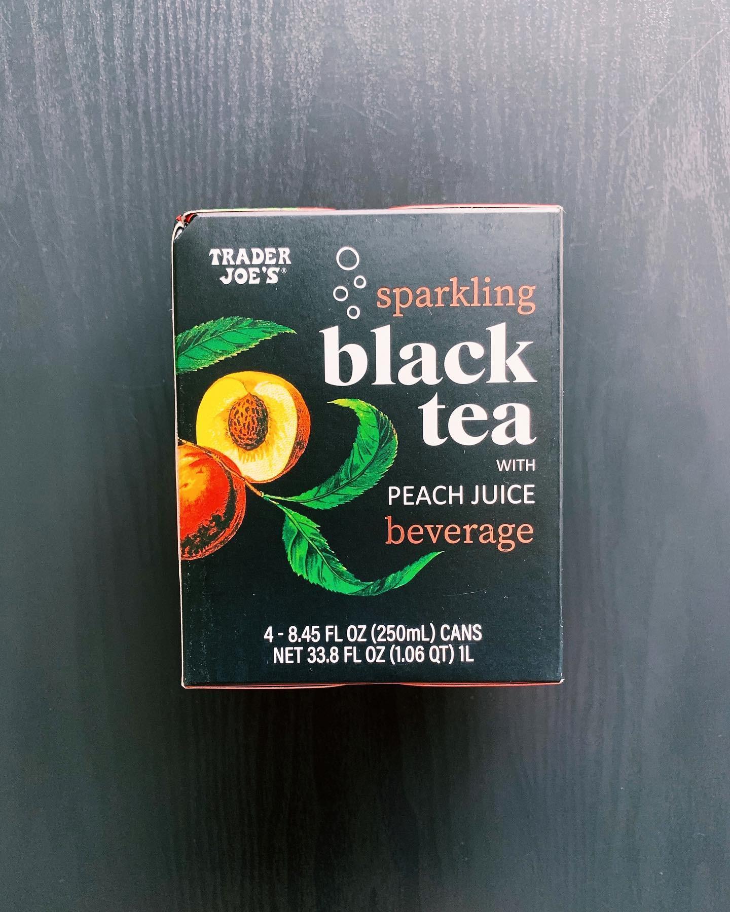 Sparkling Black Tea with Peach Juice Beverage: 8/10