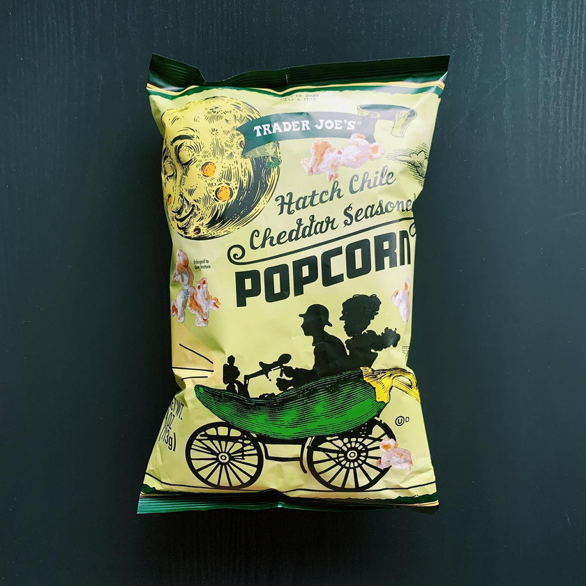 Trader Joe's Hatch Chile Cheddar Seasoned Popcorn