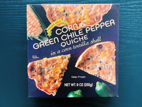 Trader Joe's Corn & Green Chile Pepper Quiche Review