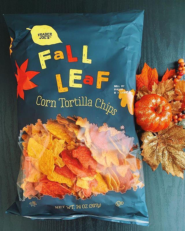 Trader Joe's Fall Leaves Tortilla Chips