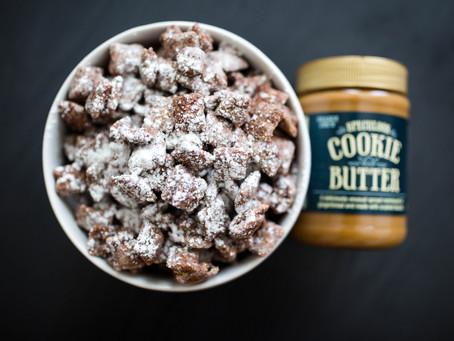 Cookie Butter Puppy Chow (Muddy Buddies) Recipe