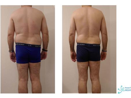 In 5 Monaten minus 10% Körperfett und minus 10 kg Körpergewicht bei gleichbleibender Muskelmasse!