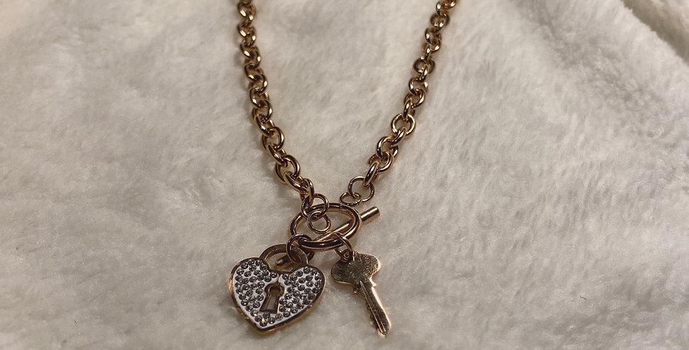 Collana cuore con chiave