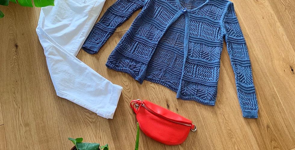 Giacchina traforata color jeans