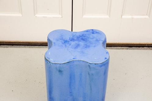 Modern Blue Ceramic Garden Stool