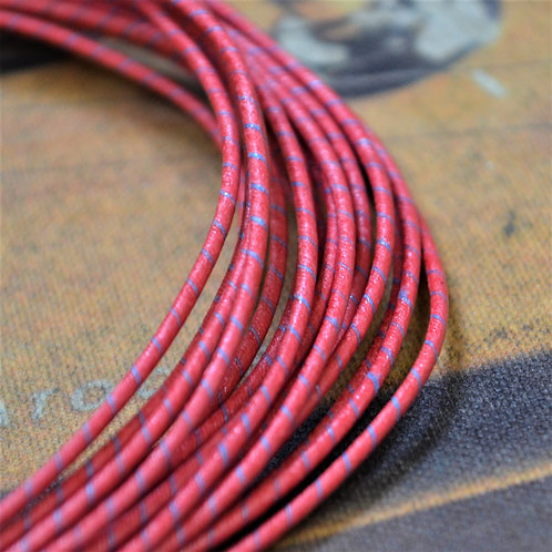 Western Electric 22AWG 年式不明 赤/青ストライプ