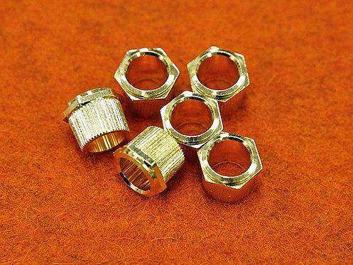 HEX HEAD TUNERS BUSHING Gold - (SET 6) (1/4 ID)