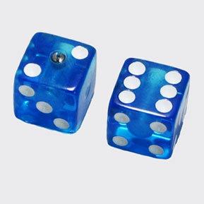 オールパーツ DICE KNOB CLEAR BLUE