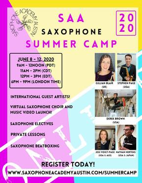 Online Saxophone Summer Camp