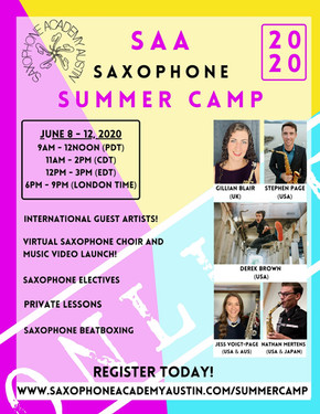 Online Saxophone Summer Camp