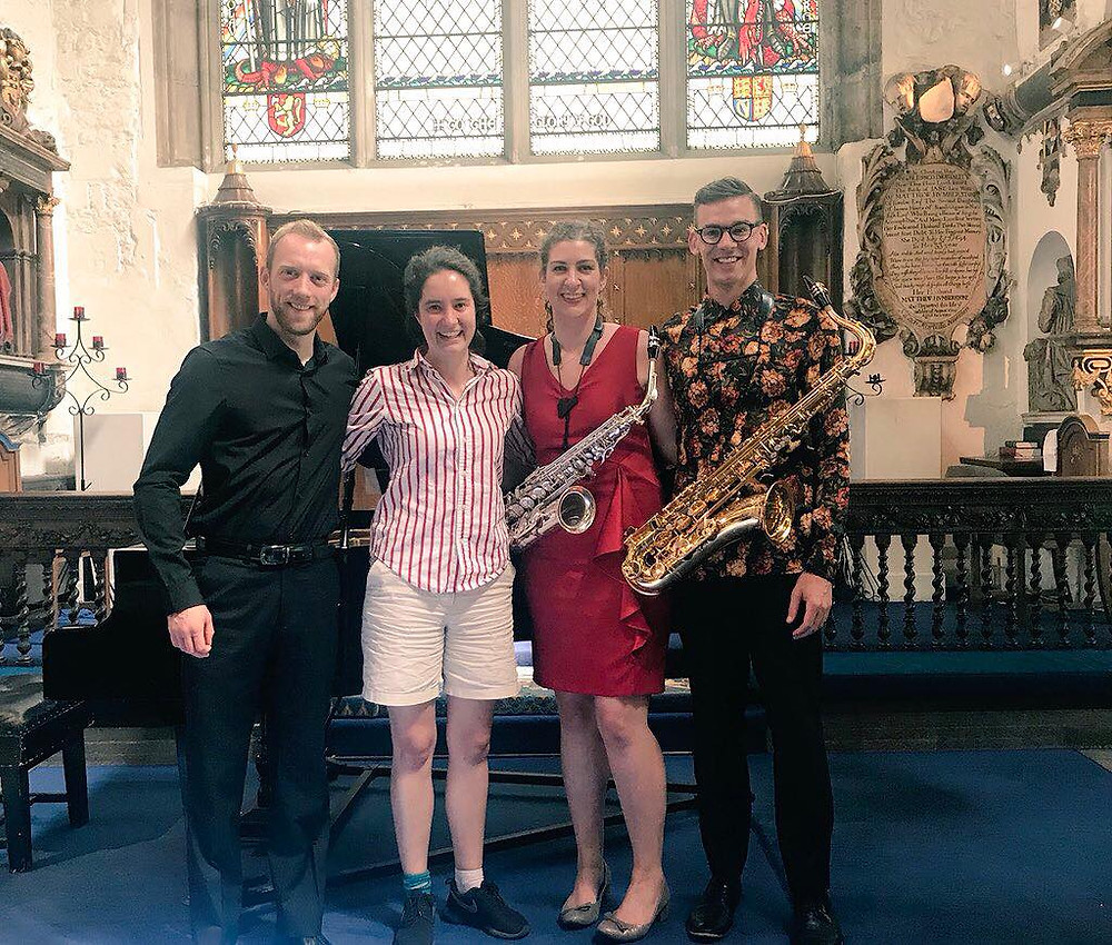 Post London Concert with composer, Lucy Armstrong