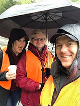 Accounting Benefit Solutions, volunteering in the rain at the CanDo Run.
