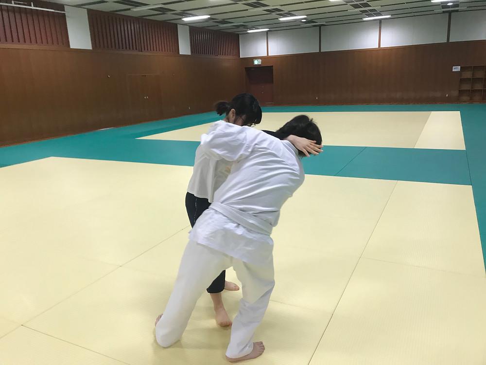 古武術教室練習の様子