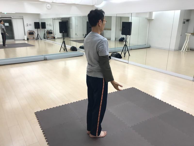まっすぐに立つ練習