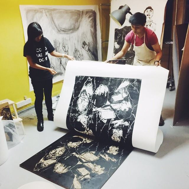 Zhang Fuming Hand Printed Woodcut