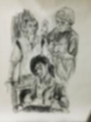 Zhang Fuming, Singapore. Charcoal Drawings