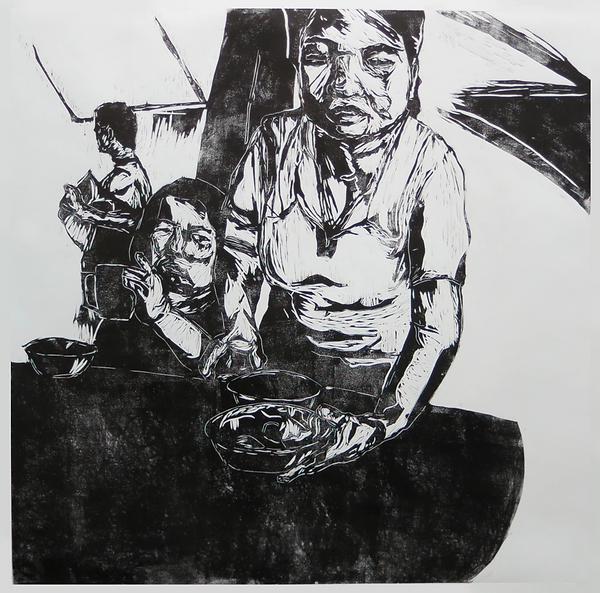 Zhang Fuming, Singapore. Woodcut on Paper