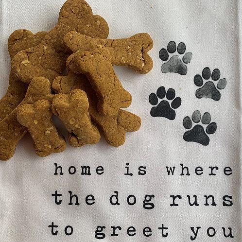 Pumpkin Peanut Butter Quick Oats Dog Treats for small pups